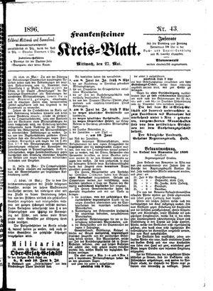 Frankensteiner Kreisblatt vom 27.05.1896