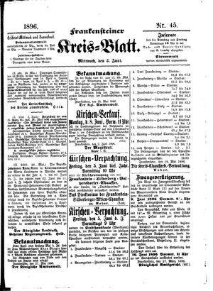 Frankensteiner Kreisblatt vom 03.06.1896