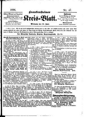 Frankensteiner Kreisblatt vom 10.06.1896