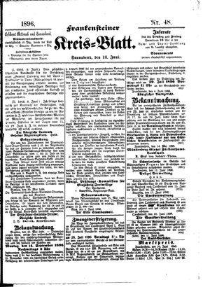 Frankensteiner Kreisblatt vom 13.06.1896