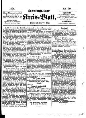 Frankensteiner Kreisblatt vom 20.06.1896
