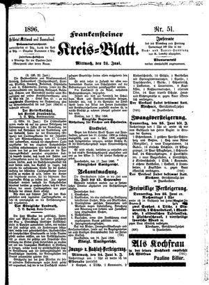 Frankensteiner Kreisblatt vom 24.06.1896