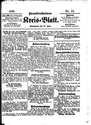 Frankensteiner Kreisblatt vom 27.06.1896