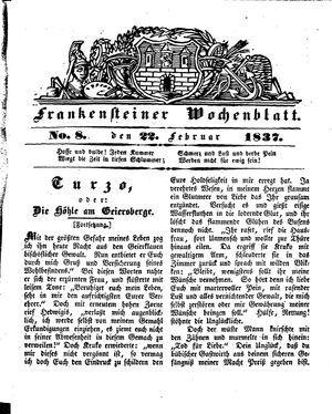 Frankensteiner Wochenblatt vom 22.02.1837