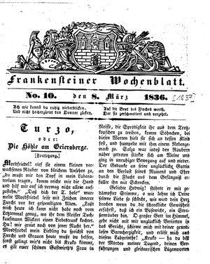 Frankensteiner Wochenblatt vom 08.03.1837