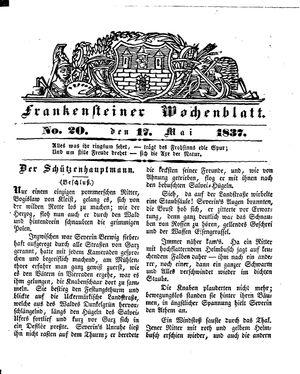 Frankensteiner Wochenblatt vom 17.05.1837