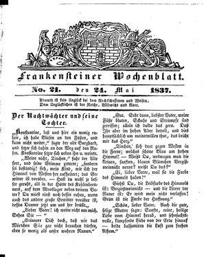 Frankensteiner Wochenblatt vom 24.05.1837
