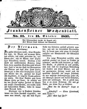 Frankensteiner Wochenblatt vom 11.10.1837