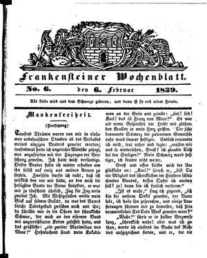 Frankensteiner Wochenblatt vom 06.02.1839