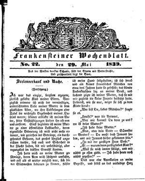 Frankensteiner Wochenblatt vom 29.05.1839