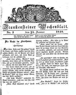 Frankensteiner Wochenblatt on Jan 15, 1840