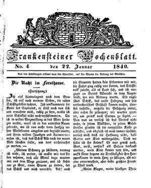 Frankensteiner Wochenblatt vom 22.01.1840