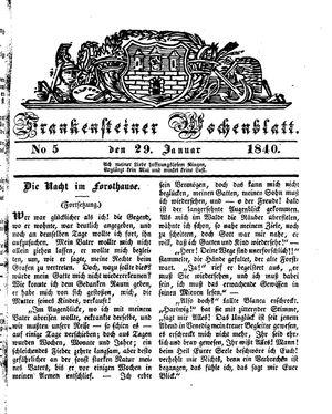 Frankensteiner Wochenblatt vom 29.01.1840