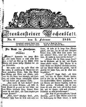 Frankensteiner Wochenblatt vom 05.02.1840