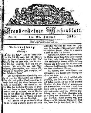 Frankensteiner Wochenblatt vom 26.02.1840