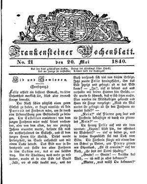 Frankensteiner Wochenblatt vom 20.05.1840
