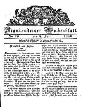 Frankensteiner Wochenblatt vom 08.07.1840