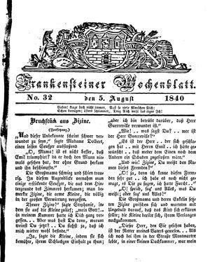 Frankensteiner Wochenblatt vom 05.08.1840