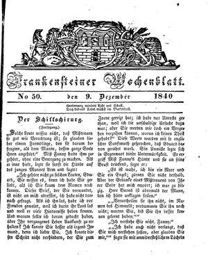 Frankensteiner Wochenblatt vom 09.12.1840