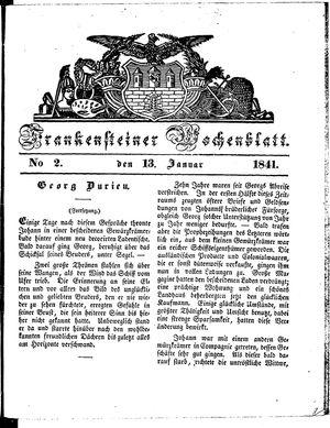 Frankensteiner Wochenblatt vom 13.01.1841