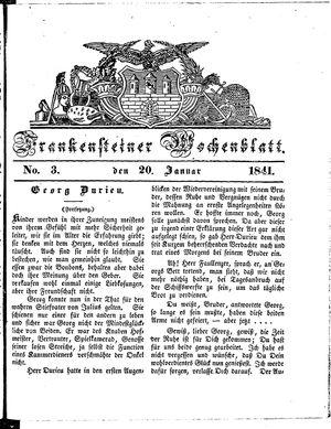 Frankensteiner Wochenblatt vom 20.01.1841