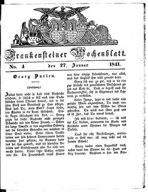 Frankensteiner Wochenblatt vom 27.01.1841
