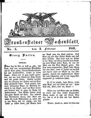 Frankensteiner Wochenblatt vom 03.02.1841
