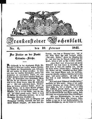 Frankensteiner Wochenblatt vom 10.02.1841