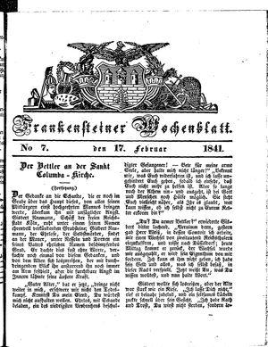 Frankensteiner Wochenblatt vom 17.02.1841