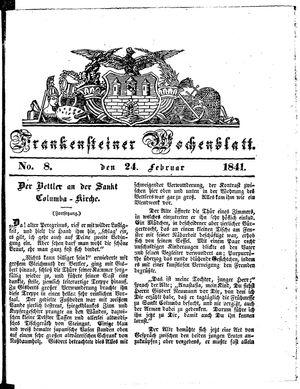 Frankensteiner Wochenblatt vom 24.02.1841