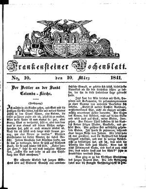 Frankensteiner Wochenblatt vom 10.03.1841