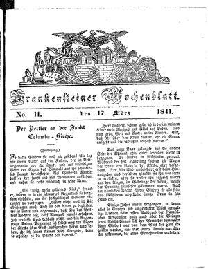 Frankensteiner Wochenblatt vom 17.03.1841