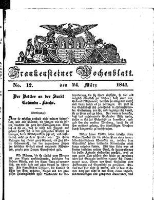 Frankensteiner Wochenblatt vom 24.03.1841