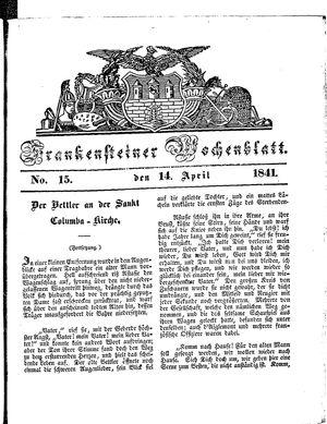 Frankensteiner Wochenblatt vom 14.04.1841