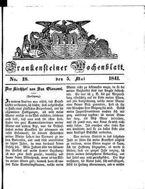 Frankensteiner Wochenblatt vom 05.05.1841