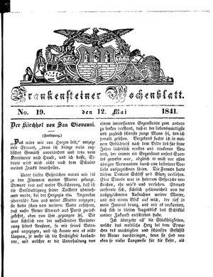 Frankensteiner Wochenblatt vom 12.05.1841
