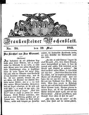 Frankensteiner Wochenblatt vom 19.05.1841