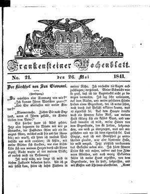 Frankensteiner Wochenblatt vom 26.05.1841