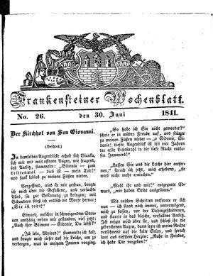 Frankensteiner Wochenblatt vom 30.06.1841