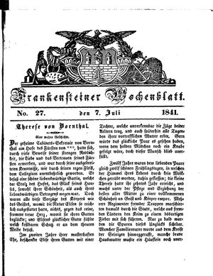 Frankensteiner Wochenblatt vom 07.07.1841
