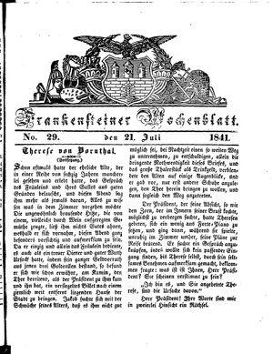 Frankensteiner Wochenblatt vom 21.07.1841