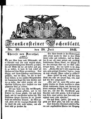 Frankensteiner Wochenblatt vom 28.07.1841