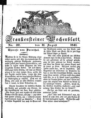 Frankensteiner Wochenblatt vom 11.08.1841