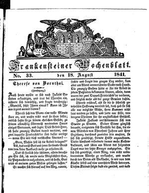 Frankensteiner Wochenblatt vom 18.08.1841
