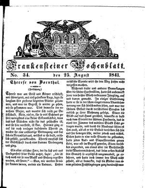 Frankensteiner Wochenblatt vom 25.08.1841
