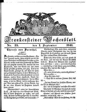 Frankensteiner Wochenblatt vom 01.09.1841