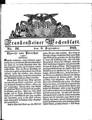Frankensteiner Wochenblatt vom 08.09.1841