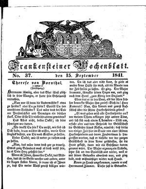Frankensteiner Wochenblatt vom 15.09.1841