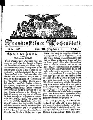 Frankensteiner Wochenblatt vom 29.09.1841