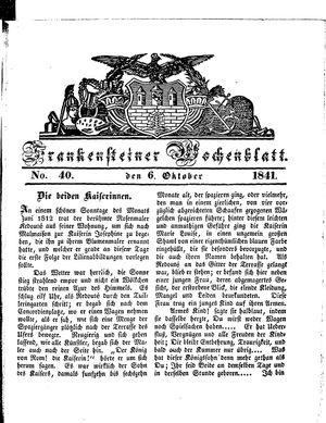 Frankensteiner Wochenblatt vom 06.10.1841